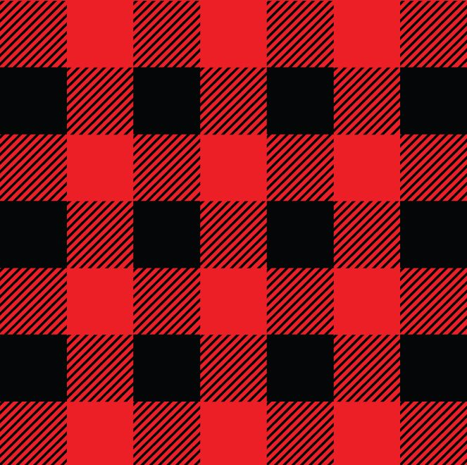 Plaid >> Christmas Plaid Red And Black Vinyl