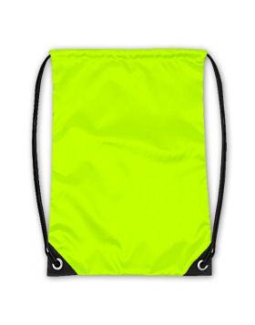 Drawstring Bag Neon Yellow