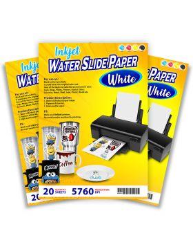 Inkjet Water Slide Paper White