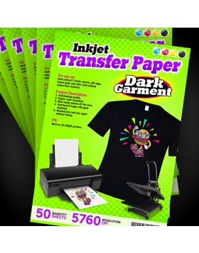 Inkjet Transfer Paper-Dark (50 Sheets)