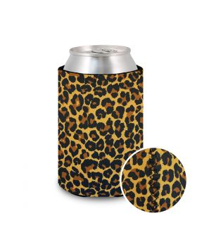 Koozie Neoprene Leopard Brown