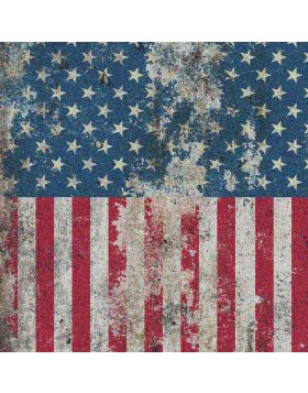 American Flag Broken Glitter Vinyl