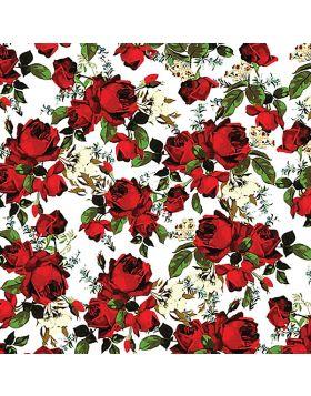 Roses Flower White Vinyl