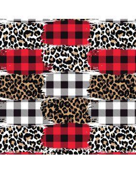 Plaid and Leopard Mix I Vinyl