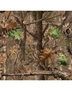 Camo Tree Dry Leaves Sign Vinyl