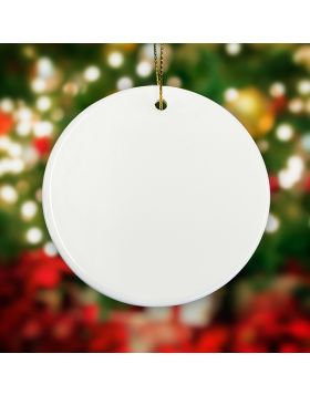 Round Shape Ornament Sublimation