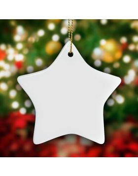 Star Shape Ornament Sublimation