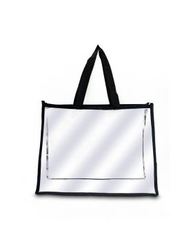 Plastic Tote Bag (15 x 12 x 4 Inchs)