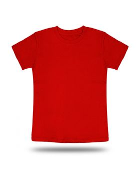 Round Neck T shirt Kids Red