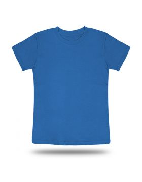 Round Neck T shirt Kids Blue