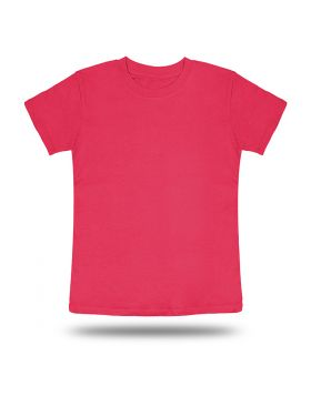 Round Neck T shirt Kids Pink