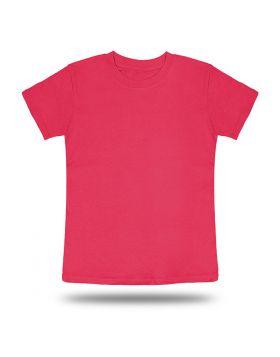 Round Neck T shirt Kids Pink