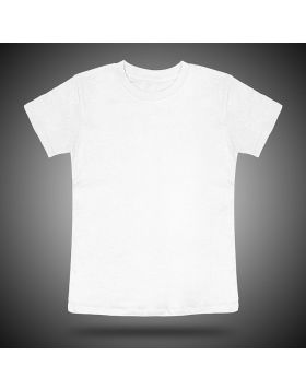 Round Neck T shirt Kids White