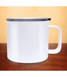 Mug Stainless Steel Sublimation White 16 Oz