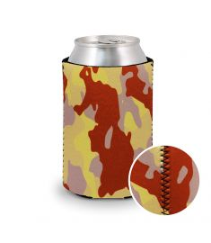 Koozie Neoprene Camo Texas Orange