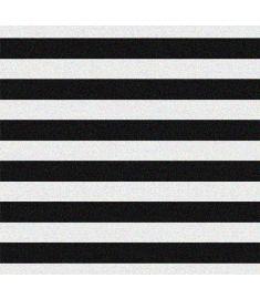Stripes Straight Black Glitter Vinyl