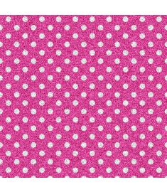 Polka-Dot Pink Glitter Vinyl