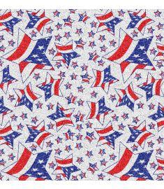 USA Stars Glitter Vinyl