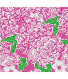 Pink Flowers Glitter Vinyl