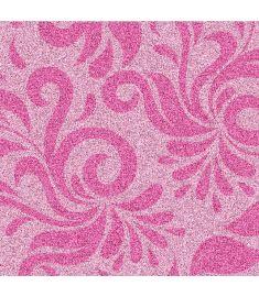 Damask Pink Glitter Vinyl