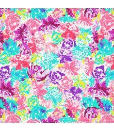 Watercolor Flowers Glitter Vinyl