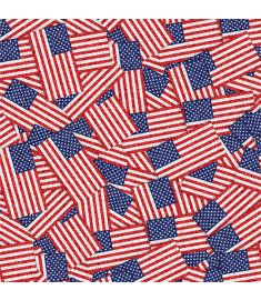 American Flags Glitter Vinyl