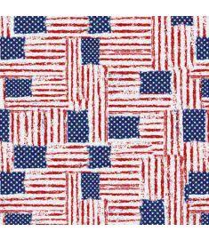 American Flags Brush Glitter Vinyl