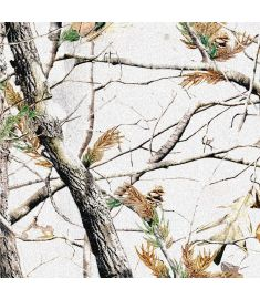 Camo Trees White Snow Glitter Vinyl