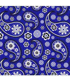 Bandana Royal Blue Glitter Vinyl
