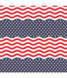 Flag Wave USA Glitter Vinyl