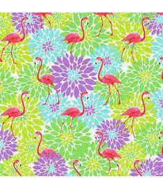 Multiflower Flamingo Glitter Vinyl