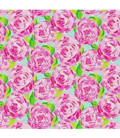 Watercolors Pink Flowers Glitter Vinyl
