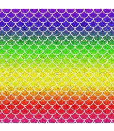 Mermaid Spectrum Colors Glitter Vinyl