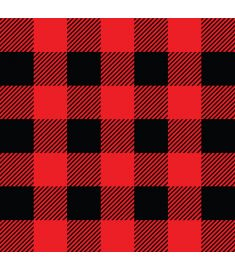 Christmas Plaid Red And Black Vinyl