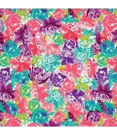 Watercolor Flowers Vinyl