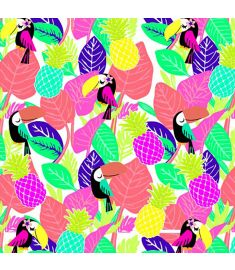 Tucan Leaves Colors Vinyl