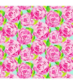 Water Colors Pink Flowers Vinyl