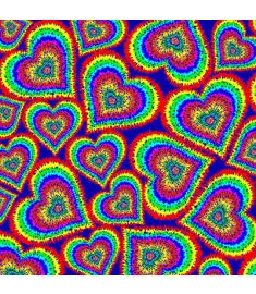 Tie Dye Hearts Vinyl