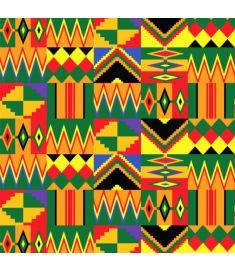African Mix Chevron Vinyl