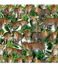 Leopard Collage White Vinyl