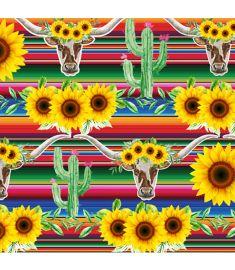 Sunflowers Cow Serape