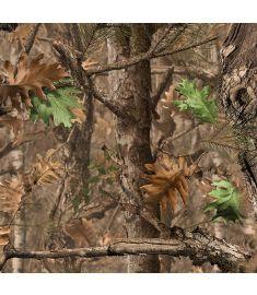 Camo Tree Dry Leaves Sign Vinyl