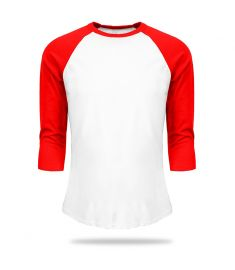 T Shirt Baseball White And Red