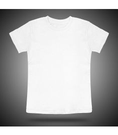 Round T shirt Kids White
